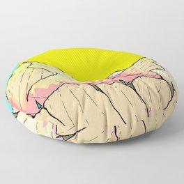 Summer river hills Floor Pillow
