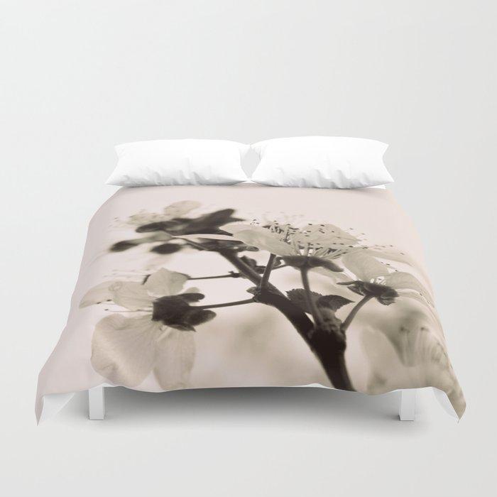 Blossoms Monochrome Duvet Cover