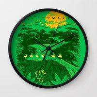 apocalypse now Wall Clocks featuring Apocalypse Now : Reducks by Matt Wasser