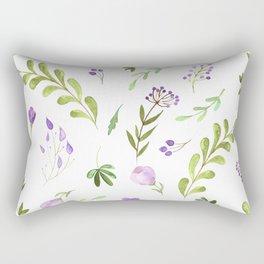 Purple Flower Field Rectangular Pillow