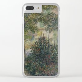 Camille Monet in the Garden at Argenteuil Clear iPhone Case
