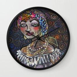 Gypsy Chalkboard Art Print Wall Clock