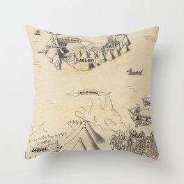 STORM SIREN Map (bk 1) Throw Pillow