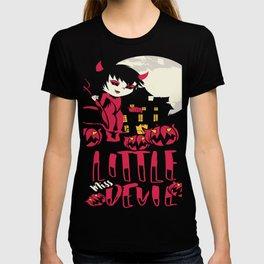 Little Devil Halloween Season in Cat Devil Design Shirt T-shirt