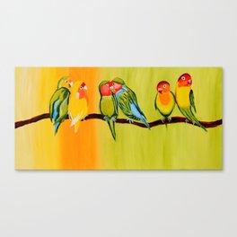 Sweetheart Birds Canvas Print