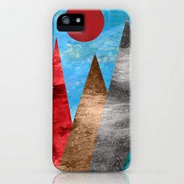 Sun and Mountains iPhone Case