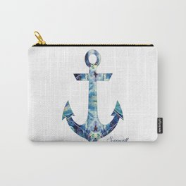 Abstract Blue Anchor Carry-All Pouch
