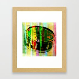 Drum Abstract Framed Art Print