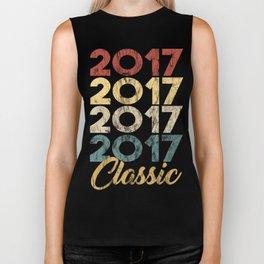 Vintage Classic 2017 Shirt 1st Birthday Party Celebration Gifts Biker Tank