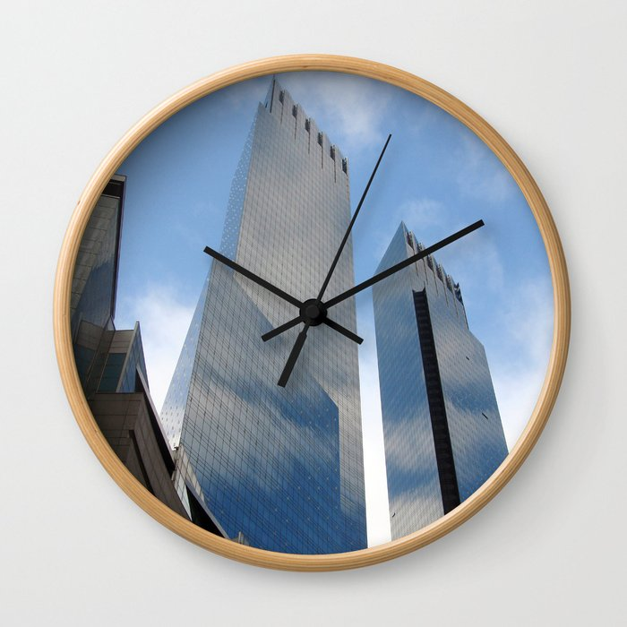New Yorker Skyline  Wall Clock