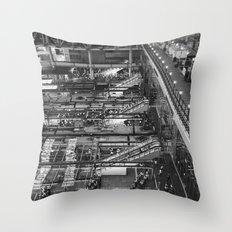 City Life in Umeda Throw Pillow