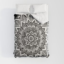 Black and White Boho Mandala Comforters