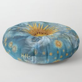 """Saturn mandala celestial vault"" Floor Pillow"