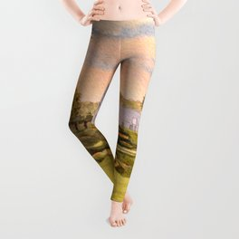 Whistling Straits Golf Course 9th And 18th Leggings