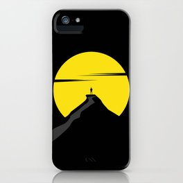 the moon the mountain iPhone Case