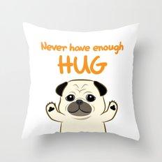 Hug Pug Throw Pillow