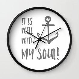 It Is Well Wall Clock