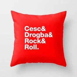 Cesc & Drogba & Rock & Roll Throw Pillow