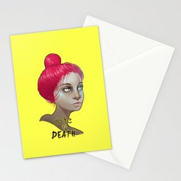 date or death Stationery Cards