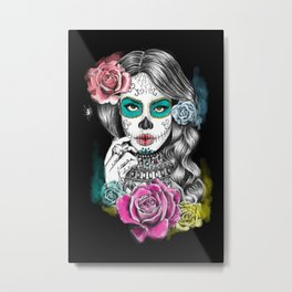 Aaliyah - Day of the Dead Metal Print