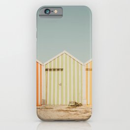 Summer Beach Huts iPhone Case