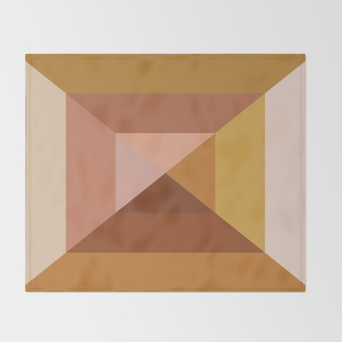 Mod Abstract Geometry Throw Blanket
