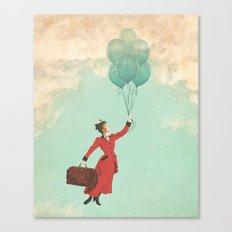 Mary, the secret behind the umbrella Canvas Print