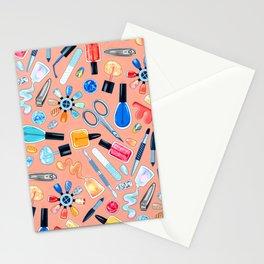 Fingernail Equipment - Blush Stationery Cards