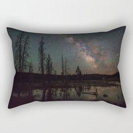 Milky Way Galaxy Above The Pond Rectangular Pillow