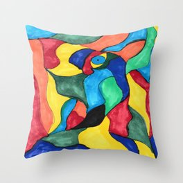 Stained Glass Eye Throw Pillow