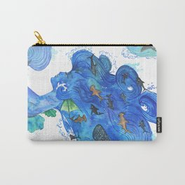 The Girl With The Shark Hair Carry-All Pouch