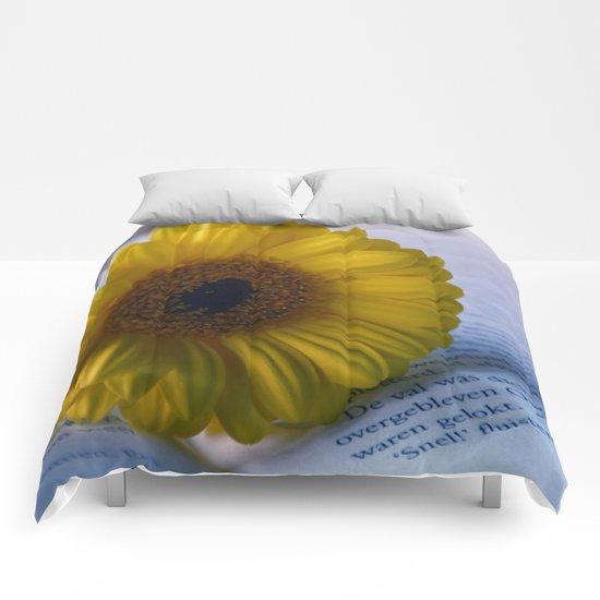 Yellow Gerbera Daisy Comforters