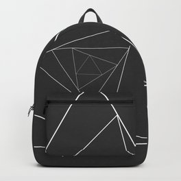 Triangle Spiral Geometric Minimalist Syndrome Backpack