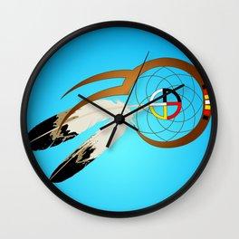 dreamcatcher blue Wall Clock