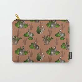 Jackrabbits and Cacti Carry-All Pouch
