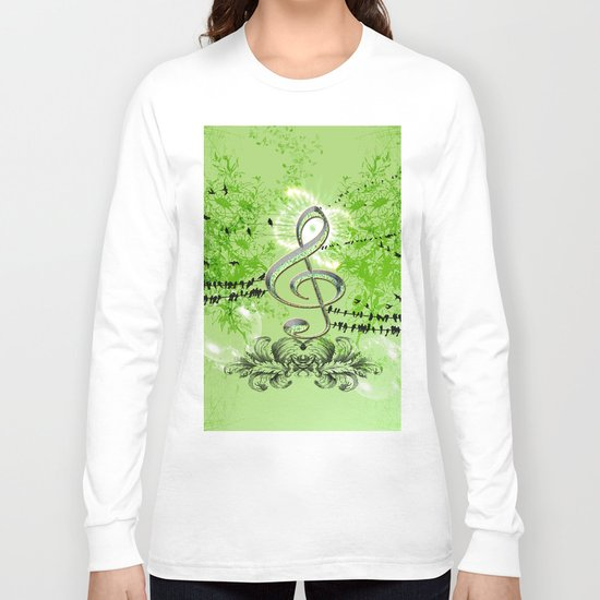 Decorative Clef Long Sleeve T-shirt