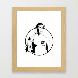 Donny - The Basterds Framed Art Print