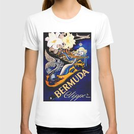 Vintage Bermuda Mermaid Travel T-shirt