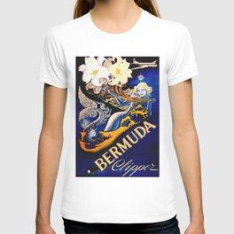 Vintage Bermuda Mermaid Travel T-shirt