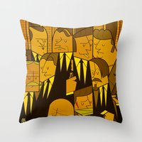reservoir dogs Throw Pillows featuring Reservoir Dogs by Ale Giorgini