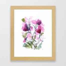 Pink Heart Petals Framed Art Print