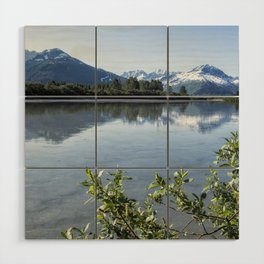 Placer River at the Bend in Turnagain Arm, No. 2 Wood Wall Art