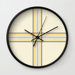 Polychrome Filigree Lines Wall Clock