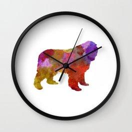 Newfoundland in watercolor Wall Clock