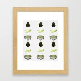 Watercolor fun avocado to guac design Framed Art Print