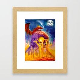 A Night On Skull Mountain Framed Art Print
