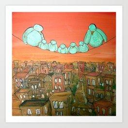 Brooklyn Birds Art Print