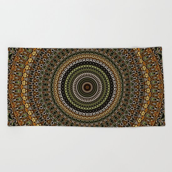 Fractal Kaleido Study 001 in CMR Beach Towel