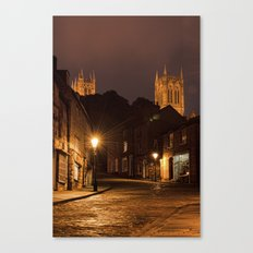 Lincoln Cathedral from Steep Hill Canvas Print