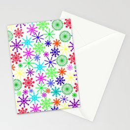 Star Wheel mixed colours Stationery Cards